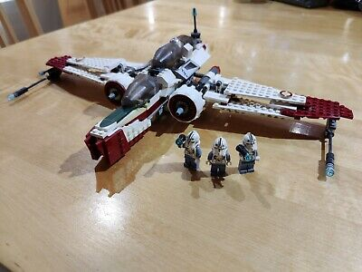 LEGO Star Wars ARC-170 Fighter (7259) PERFECT CONDITION All Figures And Bombs • 25.05£