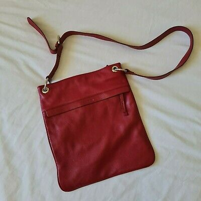 AU11.50 • Buy OROTON Red Crossbody Bag - Leather, Work, Casual