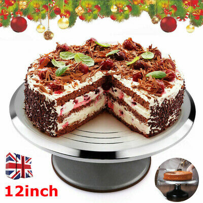 30cm Kitchen Cake Decorating Icing Rotating Revolving Turntable Display Stand UK • 16.79£