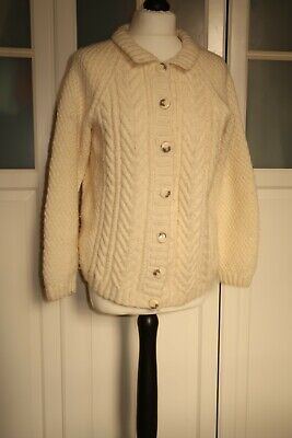Hand Crafted Cable Knit Aran Cardigan • 10£