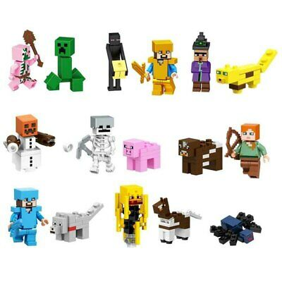 AU16.49 • Buy 16pcs/Set Minecraft My World Series Characters Mini Figures Building Blocks Toys