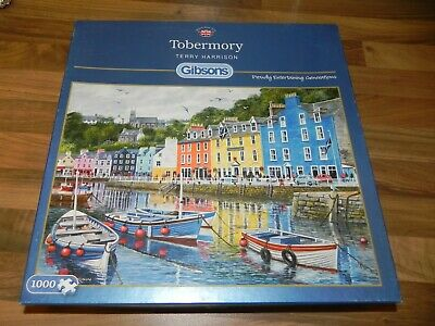 Gibsons 1000 Piece Jigsaw Puzzle Tobermory By Terry Harrison Excellent Condition • 12.95£