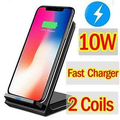 AU12.99 • Buy 10W Qi Wireless Charger Dock Stand For IPhone 12 Pro 11 XS XR 8 Plus Samsung S20