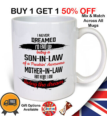 £8.99 • Buy Son-In-Law Funny Gift Tea Coffee Mug Gifting Options Available