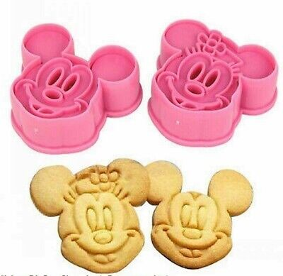 Mickey Mouse Cookie Cutter Baking Stencil Mould Set Of 2 Minnie Mouse UK SELLER • 4.99£
