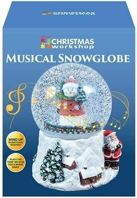 The Christmas Workshop  Musical Snow Globe | Snowman Festive Decoration | • 12.99£