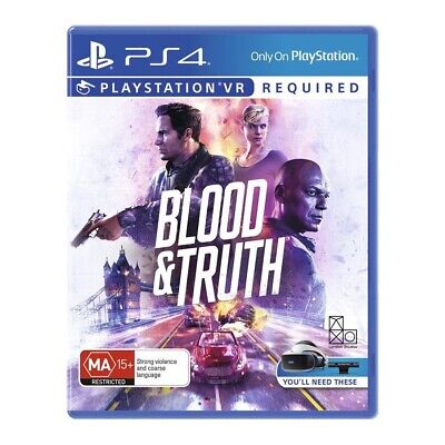 AU35 • Buy Blood And Truth VR PS4 New In Stock FREE FAST DELIVERY