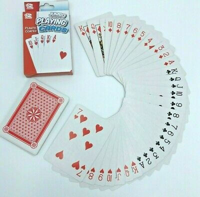 Jumbo Playing Cards Deck Extra Large Cards Pack Of 52 Visually Impaired Elderly • 3.29£
