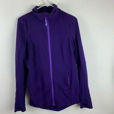 $ CDN40.42 • Buy LuLuLemon Womens Athletic Top Size 10 Purple Vented Back Zip Front