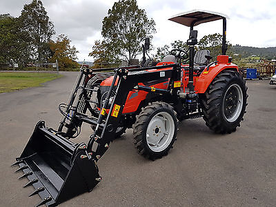 AU29990 • Buy New AK704 AgKing 70hp Tractor 4WD With FEL And 4 In 1 Bucket. Flat Floor