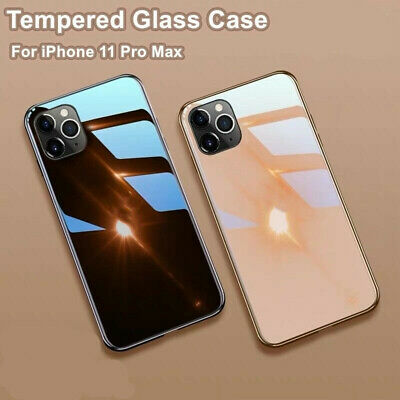 AU11.25 • Buy Tempered Glass Hard Phone Case Cover For IPhone 11 Pro Max XR XS 8 Plus 7 Slim