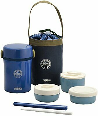 AU53.29 • Buy THERMOS Insulated Thermal Lunch Box Bento Food Container Jar Storage Navy Japan