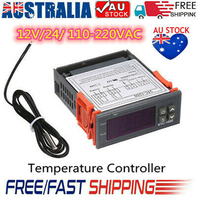 AU16.90 • Buy Digital Temperature Thermostat STC-1000 Controller 12V-220V Heating Cooling LCD