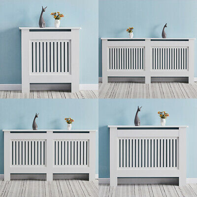 £29.99 • Buy White Radiator Cover Grill Shelf Cabinet MDF Wood Modern Traditional Furniture