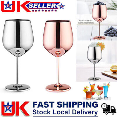 500mL Stainless Steel Wine Glasses Goblets Copper Cup Reusable High Quality • 8.99£