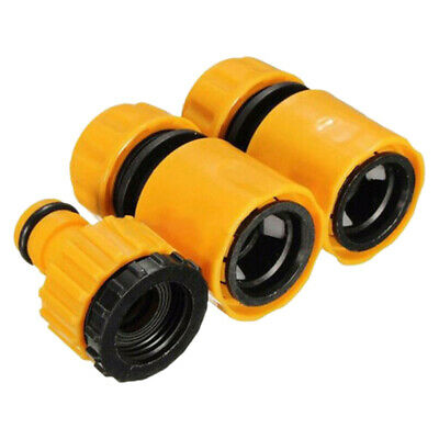 3pcs Universal Garden Watering Hose Pipe Tap Connector Adaptor Fitting Plastic • 4.76£