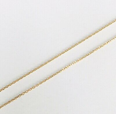 "OLD STOCK 9ct Gold Fine Trace Solid Adjustable Chain Necklace 16""/18  0.6g • 99£"