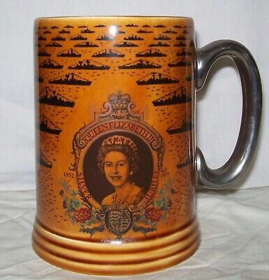 Commemorative Tankard - Queen Elizabeth II Silver Jubilee Fleet Review At Spithe • 5.50£