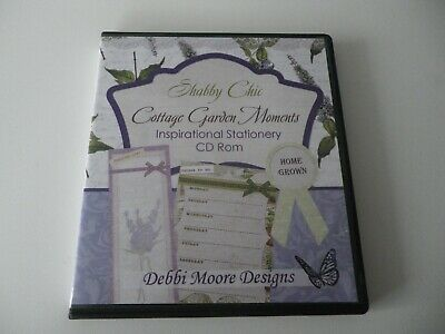 Debbi Moore Designs Shabby Chic Cottage Garden Moments Stationery CD-ROM  • 4.95£