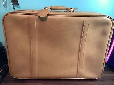 $ CDN251.31 • Buy Vintage Yellow Suitcase Pullman 29 Ladies Roll Away MELON US Luggage
