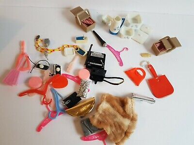 $ CDN21.50 • Buy Barbie Doll Clothing And Accessories Lot Star Burst Cookware Picnic Handbags