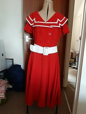 Red And White Bettie Page Dress • 25£