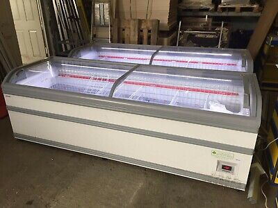 Aht Commercial Chest Freezer Display 2.5m Aht Miami Can Deliver 07788156508 • 799£