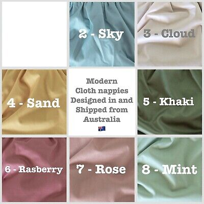 AU18.99 • Buy MCN Modern Cloth Reusable Bamboo Nappies With 5 Layer Inserts Australian Owned