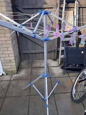 Rotary Washing Line Airer Dryer Outdoor Camping Aluminium Portable Freestanding • 10£