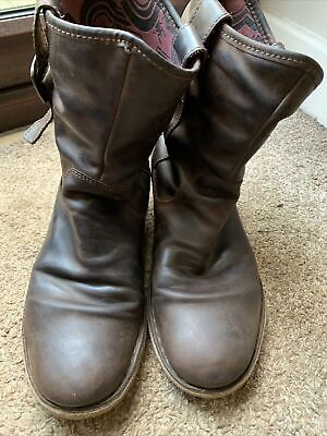 Ladies Fly London Nota Rug, Women's Slouch Brown Leather Boots Buckle Biker 41/8 • 20£