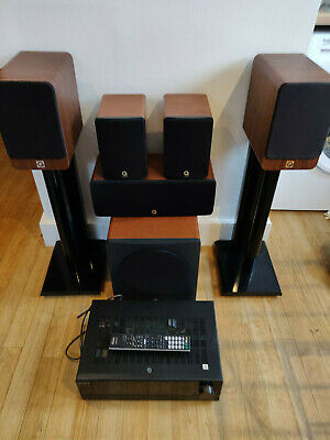 Q Acoustics 5.1 AV Speaker System With Sony STR-DN1000 Amp - All Cables Included • 199£
