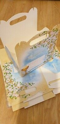 16 Un-used First Holy Communion Cake Boxes / Goodie Bag Boxes, With POLISH Text • 4£