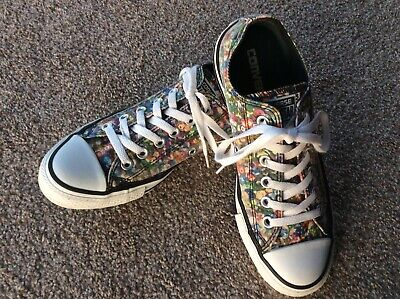 Converse Size 5 Limited Edition Sequin Print Multicoloured Rainbow Colour • 9£