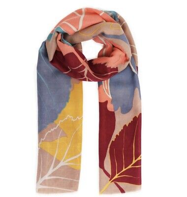Powder Autumn Leaves Scarf - Free Gift Bag • 18.49£