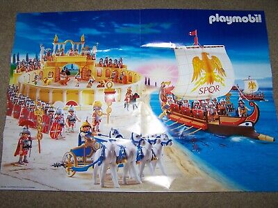 £8.52 • Buy Playmobil Roman Empire Collector's Collectible Poster 60x42 Cm Toy Soldiers