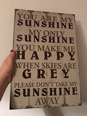 You Are My Sunshine -wall Art, Home Decor, Plaque • 3£