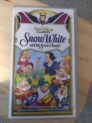 Snow White And The Seven Dwarfs (VHS/PAL) Walt Disney Classics • 1.10£