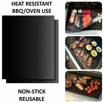 £5.99 • Buy Large BBQ Grill Mat Non-Stick Oven Liners Teflon Cooking Baking Sheet 40x50cm