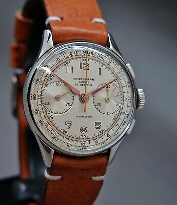 $ CDN1025.06 • Buy Chronographe Suisse Parker Excellent Landeron48 Hand Winding Fully Serviced 1965