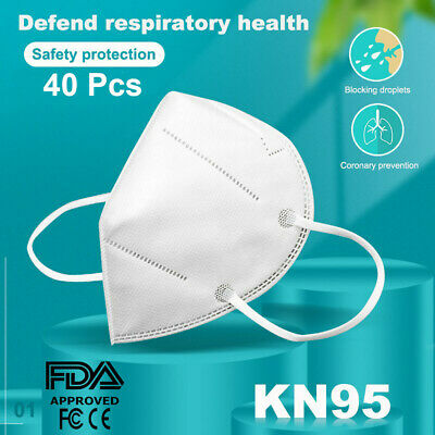AU32.92 • Buy KN95 Face Mask Reusable Mouth Masks Anti Dust 5 Layer 40pc Respirator Protective
