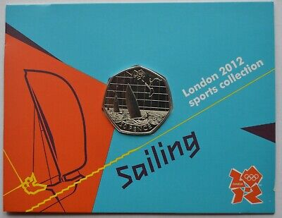 2012 London Olympic Games 50p Sports Collection Uncirculated Football, Sailing • 3.20£