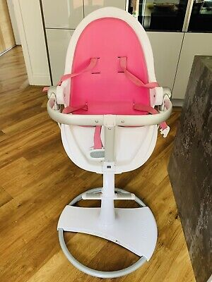 Bloom Fresco Chrome Highchair White And Pink • 150£
