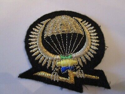 Cloth Parachute Commando Wings Badge For French Territory Of Laos • 8£