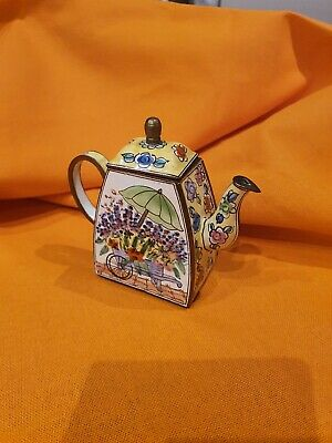 Collectable Trade Aid Miniature Enamel Teapot, Numbered, Excellent Condition • 2.70£