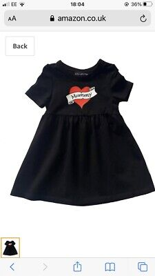 Metallimonsters Daddy Heart Tattoo Dress Alternative Baby Goth Punk Rock Metal  • 3£