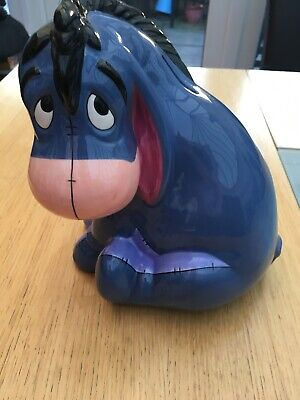 Vintage Disney Eeyore Money Bank Statue Rare Collectable Gift Xmas Present* • 4.99£