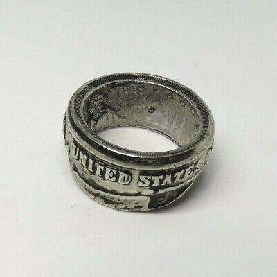 $21.99 • Buy Men's Size 10 Vintage Look Coin Style Large 12mm Wide Ring