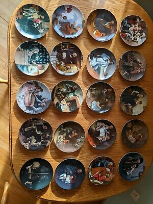 $ CDN97.32 • Buy 20 Norman Rockwell Plates Heritage Collection - Complete Set