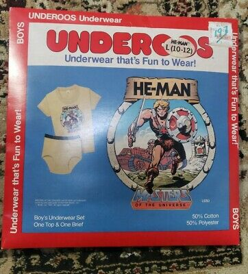 $100 • Buy Vintage 80s Underoos  He-Man Master Of The Universe L(10-12)sealed