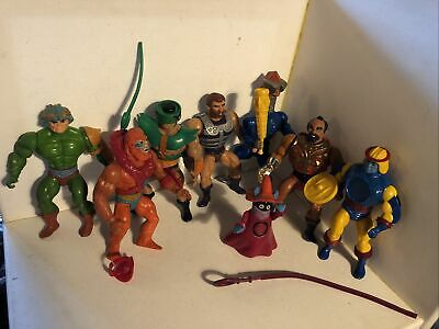 $100 • Buy Vintage Motu He-man Masters Of The Universe Lot 8 Figures And Accessories